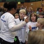 Britta Leib instruiert ihre Mannschaft