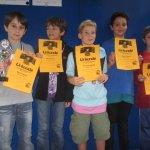 Die Sieger der 3. und 4. Klasse