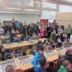 Menschen in Turniersaal