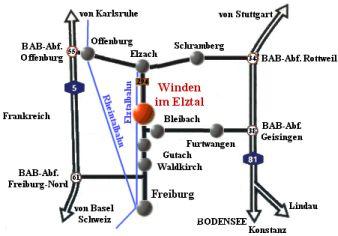 Anfahrtsskizze 80. Badischer Schachkongress