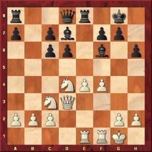 Fragment 1: Welches typische Manöver nutzte Schwarz in dieser Stellung?