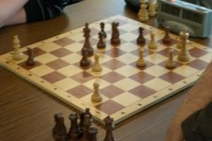 Das gewonnene Endspiel von Wilhelm! Soeben kam Lf3 nach a8.