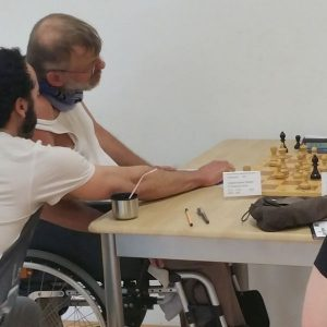 ... und natürlich bleibt das Turniere speziell dank des Raumes auch behindertengerecht. Somit kann auch Stammspieler Stefan Lippianowski Jahr für Jahr sein Können und seine Freude am Sport unter Beweis stellen.