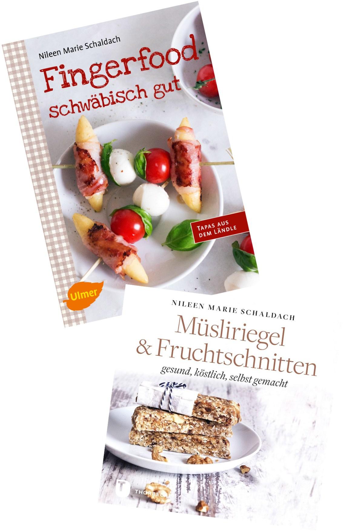 Buchpaket Fingerfood schwäbisch gut Müsliriegel & Fruchtschnitten Nileen Marie Schaldach Schätze aus meiner Küche