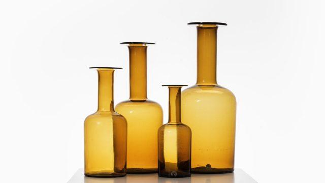 Otto Brauer glass vases by Kastrup Holmegaard at Studio Schalling