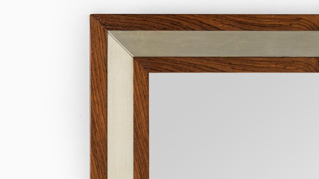 Aksel Kjersgaard mirror in rosewood and aluminium at Studio Schalling