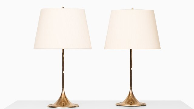 Pair of table lamps by Bergboms at Studio Schalling