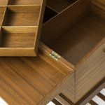 Side / sewing table in mahogany and brass at Studio Schalling