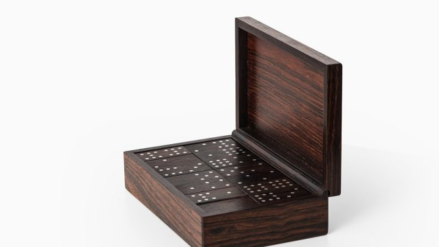 Alfred Klitgaard handcrafted box with domino game at Studio Schalling