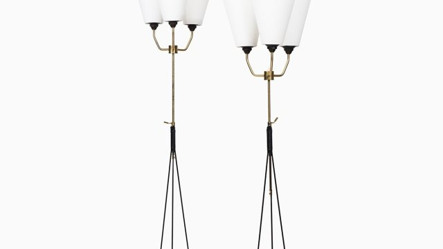 Pair of mid century floor lamps at Studio Schalling