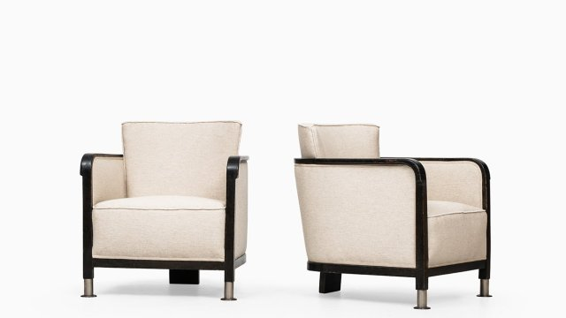 Otto Schulz easy chairs in linen fabric at Studio Schalling