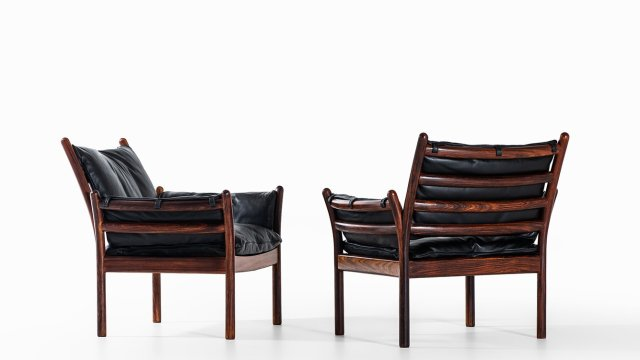 Illum Wikkelsø easy chairs model Genius at Studio Schalling