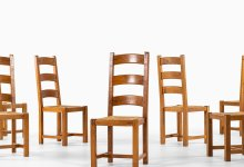 Large set of 11 art deco dining chairs at Studio Schalling