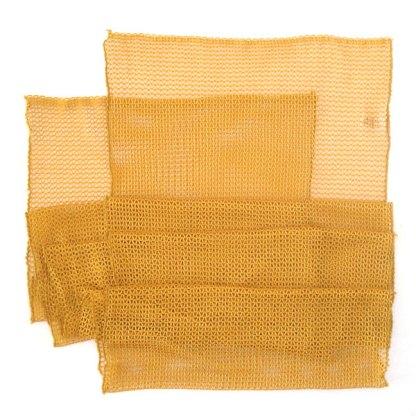 Italienischer Polyester Netz-Schal gelb