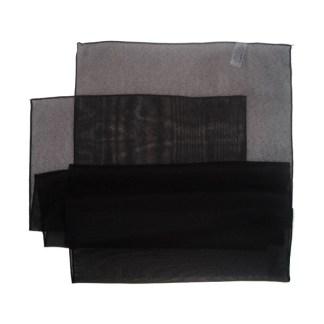 Chiffon Schal schwarz