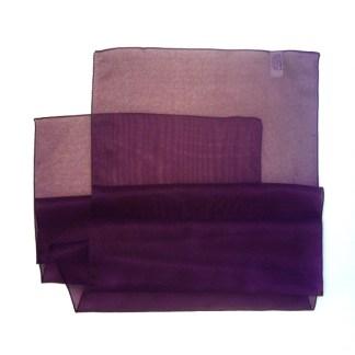 Chiffon Schal in aubergine-violett