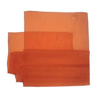 Chiffon Schal in orange