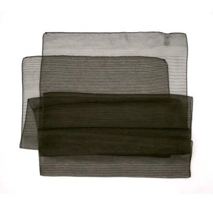 Polyester Schal in dunkel-grün liniert