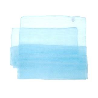 Polyester Schal in babyblau liniert