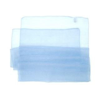 Polyester Schal in pastelblau liniert