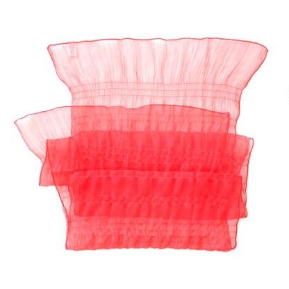 Polyester Schal in leuchtendem rot