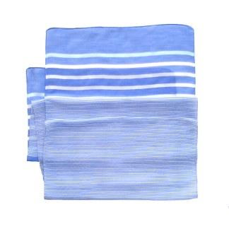 Polyester Schal in hell blau mit Streifen