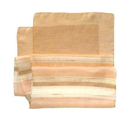 Nylon-Polyester Schal in gelb-orange Tönen