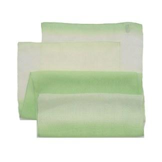 Chiffon-Polyester Schal in grün mit Farbverlauf