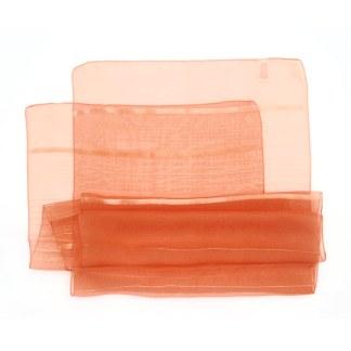 Polyester Schal in orange liniert