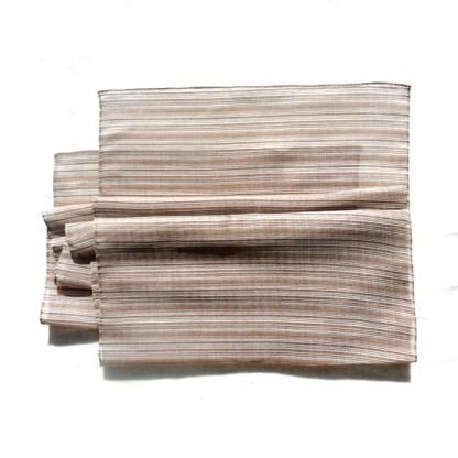 Polyester Schal in braun liniert