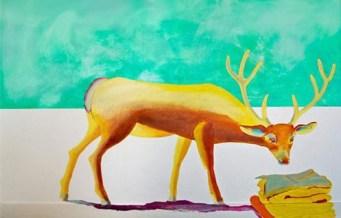 Deel van muurschildering voor een zwembad