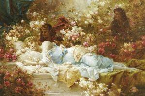 The Sleeping Beauty (1859-1945) di HANS ZATZKA / Fonte: Pinterest.