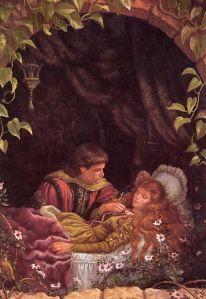 Illustrazione che ritrae la bella addormentata ed il principe. / Artista: Kai fine art. Fonte: Pinterest.