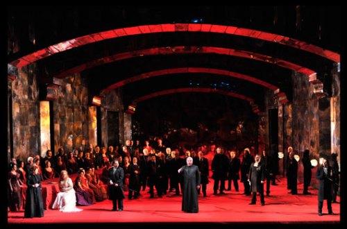 הסקסטט בסצנת החתונה - מערכה שנייה (צילום: יוסי צבקר)