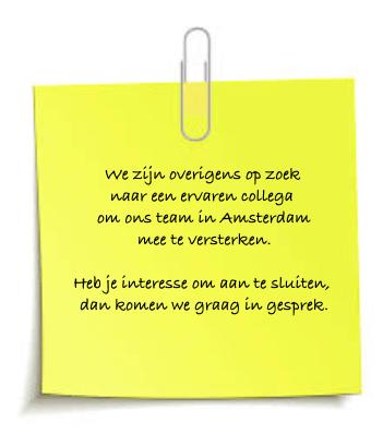 Wij zijn op zoek naar een mediator voor onze vestiging in Amsterdam