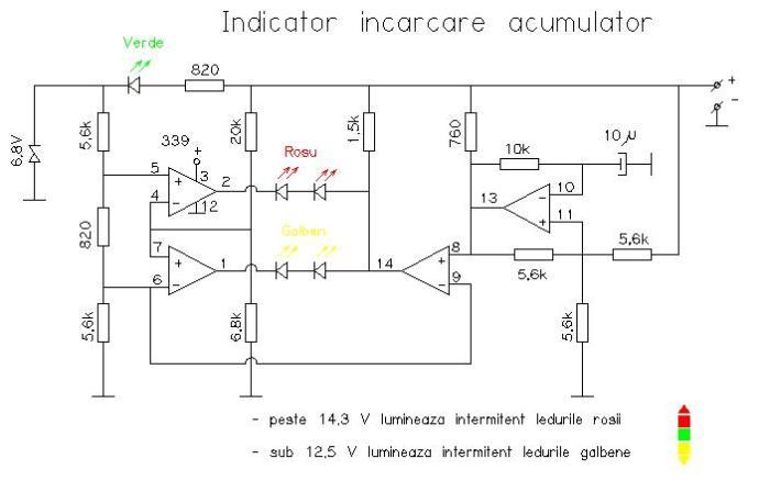 Indicator încărcare acumulator auto