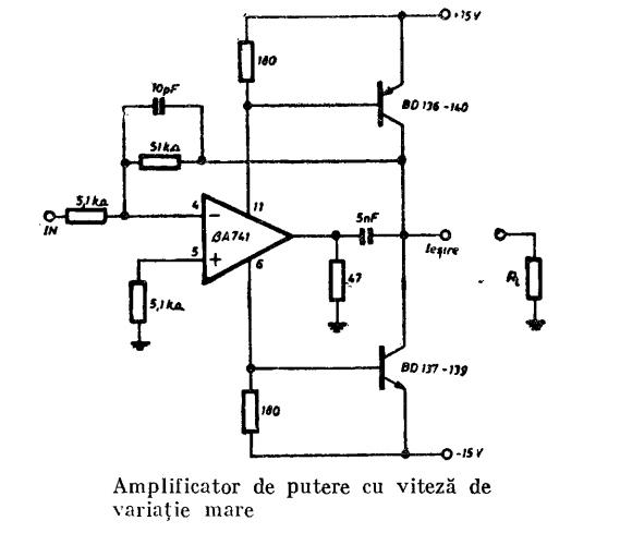 amplificator opera u021bional cu  u03b2a 741  lm 741   u2013 scheme