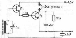 Radioreceptor cu amplificare directă (varianta 2)