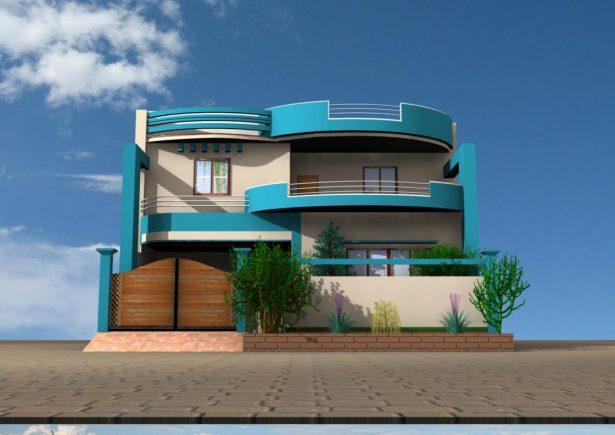 Blue Modern Color Scheme » House Exterior » SchemeColor.com on Modern House Painting  id=76631