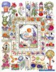 Garden sampler cross stitch pattern free by Barbara (4)
