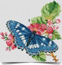schema punto croce farfalla sul fiore rosso- schema gratuito da scaricare (3)