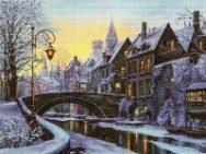 schema punto croce notturno olandese sotto la neve (3)