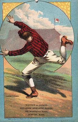 Sample baseball advertising trade card from Set H 804-11