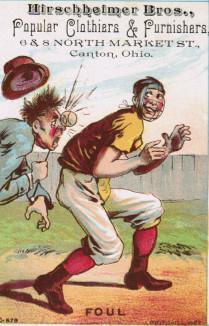 Sample baseball advertising trade card from Set H 804-24