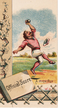 Sample baseball advertising trade card from Set H 804-36