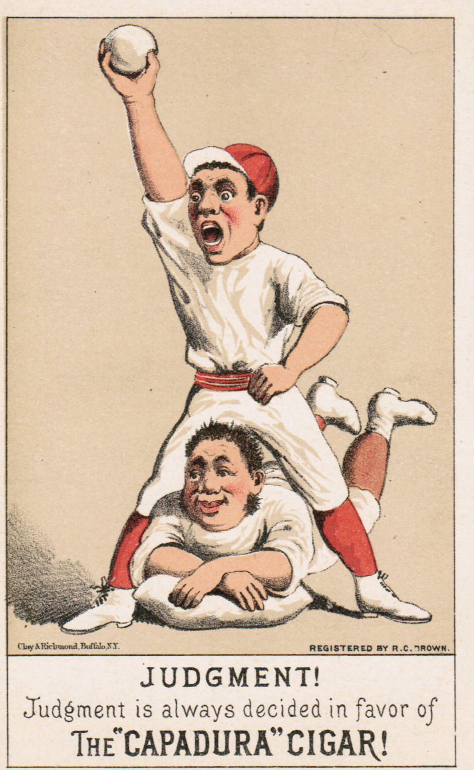 Set H 804-4 baseball advertising trade card