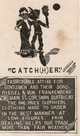 Sample baseball advertising trade card from Set H 804-40