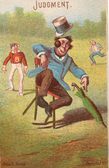 Sample baseball advertising trade card from Set H 804-6