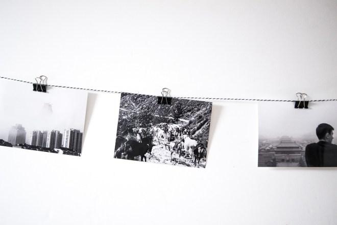 DIY Galerie Küche schwarz weiß Fotos