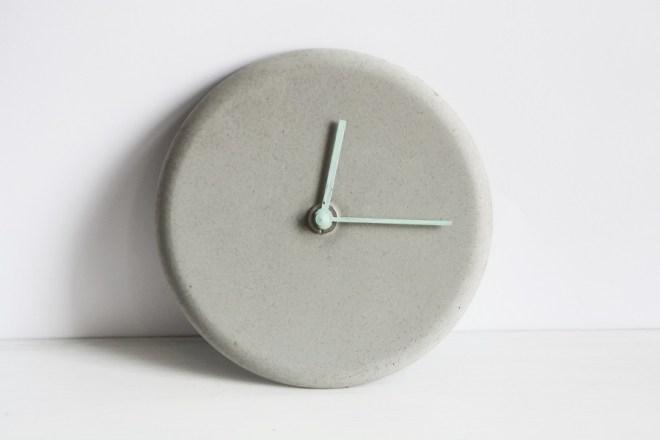 Minimalistische Beton Uhr Basteln